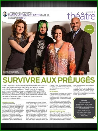 Article L'Intrus Journal de Montreal 28 mai 2014